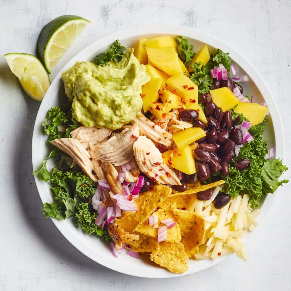 CHICKEN AND KALE TACO SALAD