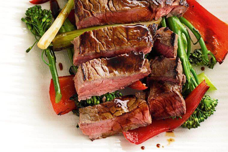 American Steak With Vegetables Recipe
