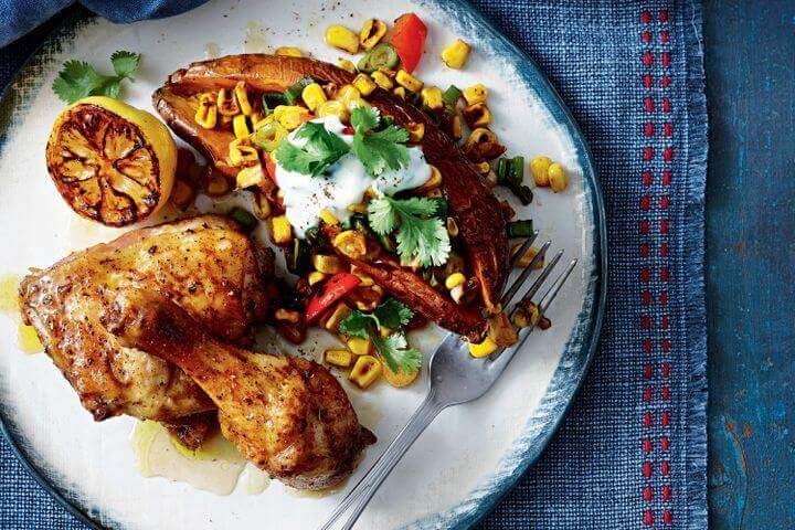 Chicken With Sweet Corns And Potatoes