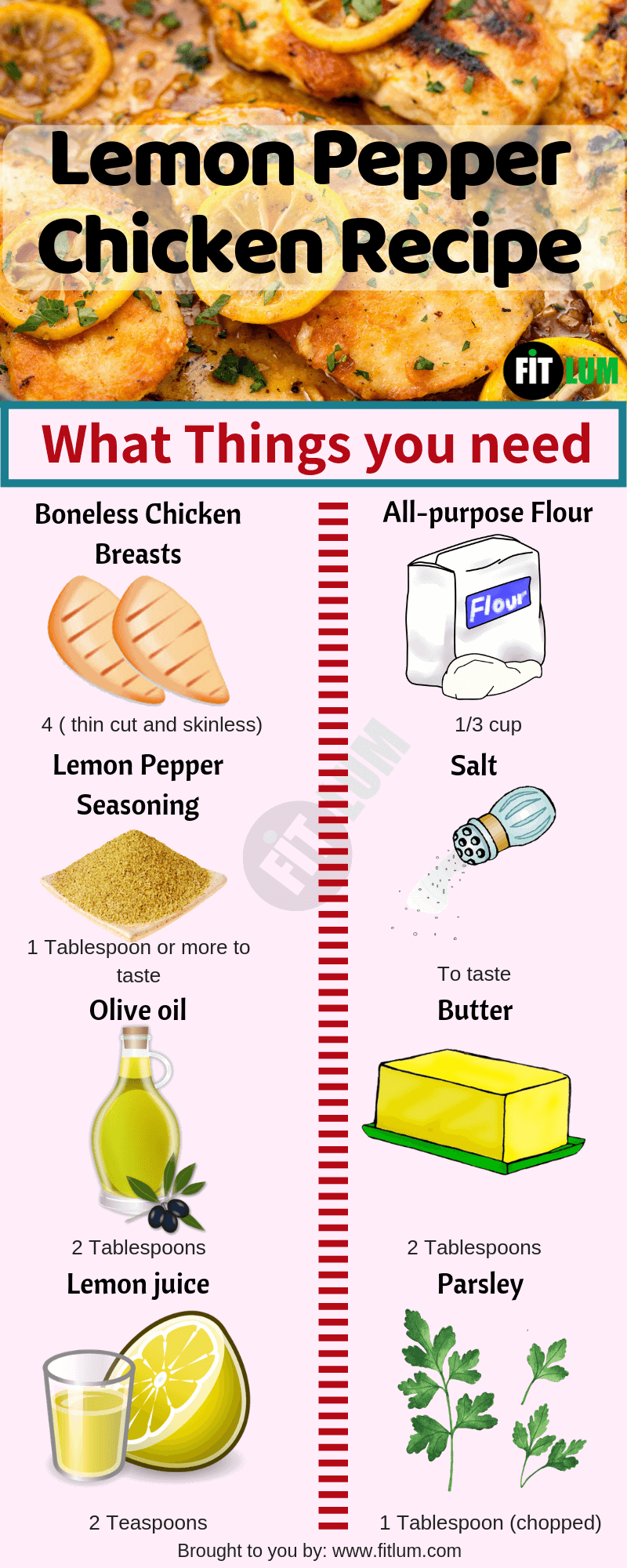 Lemon Pepper Chicken Recipe Infographic