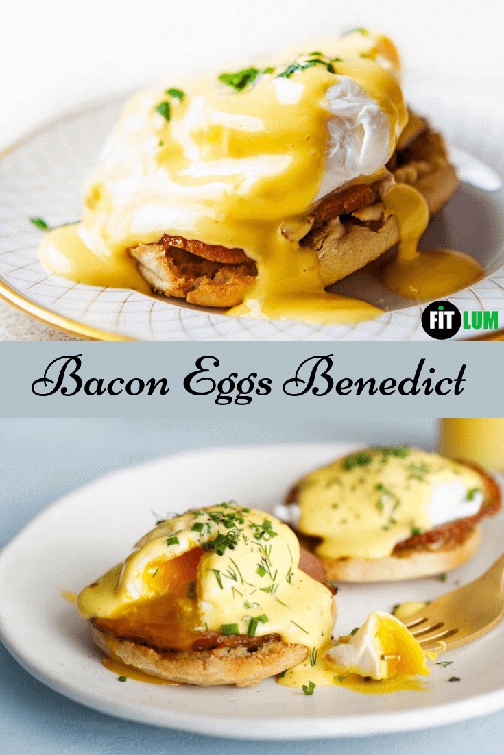 Bacon Eggs Benedict Recipe infographic