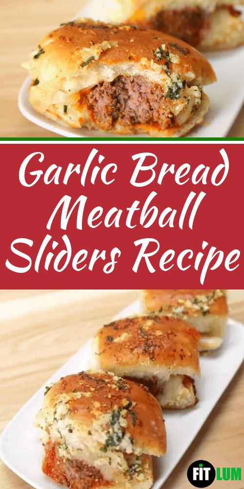 Garlic Bread Meatball Sliders Recipe Infographic