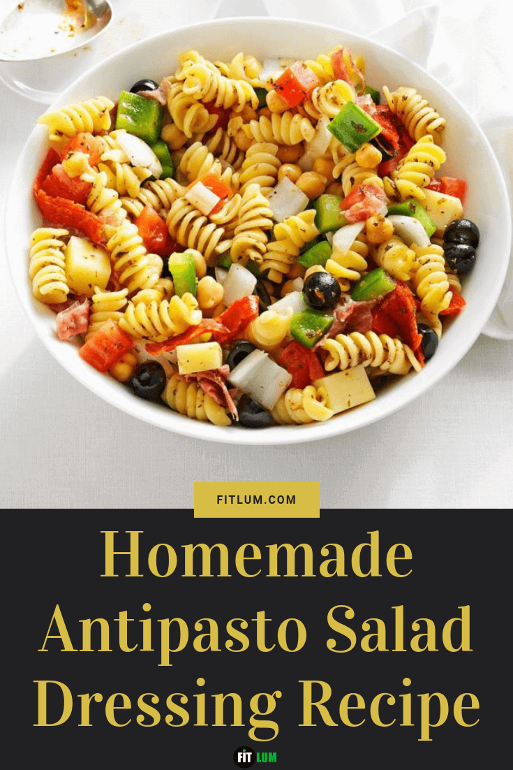 Homemade Antipasto Salad Dressing Recipe infographic
