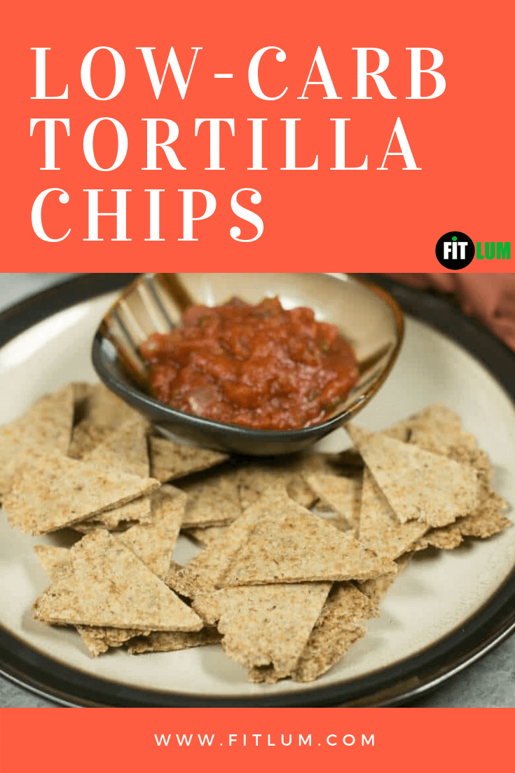 Low-carb Tortilla Chips recipe infographic